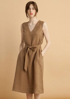 Bensimon Basile Linen Dress Tobacco