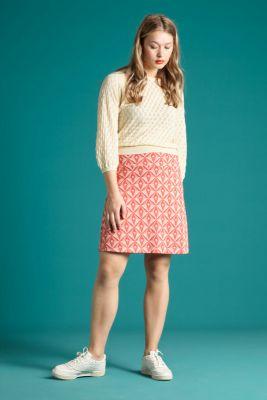 King Louie Border Skirt Odette Peach Pink