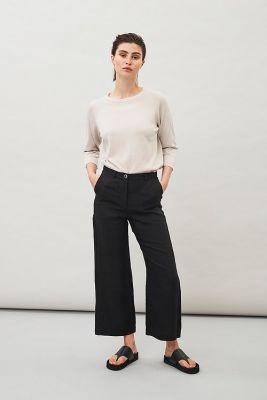 Maska Lissy LinenCropped Pants Black