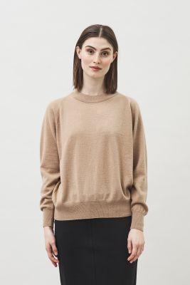 Maska Vivi Raglan Sleeve Cashmere Wool Camel Sweater