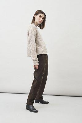 Maska Tori Organic Cord Brown Pants