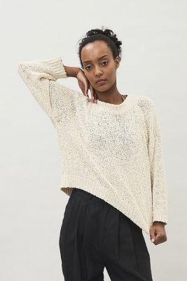 Maska Lyra Tape Yarn Sweater Off White