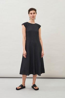 Maska Hopi Linen Dress Black