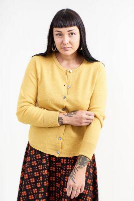 Kitchener items Interlock Belle Cardigan Yellow