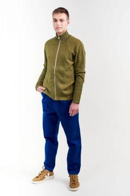 Kitchener Items New Kimi Zip Cardi Cardigan Dark Green & Curry