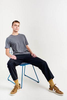 Kitchener Items Clark Basic T-Shirt - Charcoal Melange