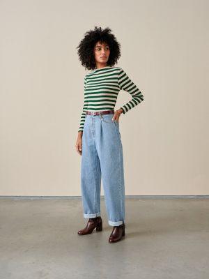 Bellerose Niba T-Shirt Stripe C Green