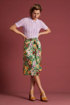 King Louie Lola Button Skirt Tula Jungle Green