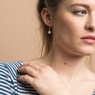 Nana Bijoux Gold Rose Earrings
