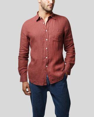 Portuguese Flannel Linen Long Sleeve Bordeux
