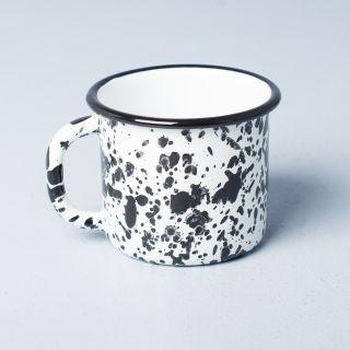 Bornn Enamel White Monochrome Mug