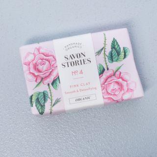 Savon Stories Pink Clay Soap Bar