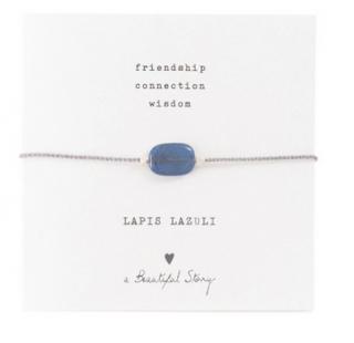 Gemstone Map Lapis Lazuli Silver Bracelet