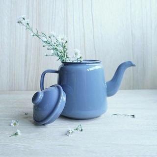 Falcon Enamelware Tea Pot Pigeon Grey