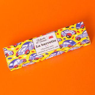 Le Chocolat Des Francais Noir Caramel Barrette