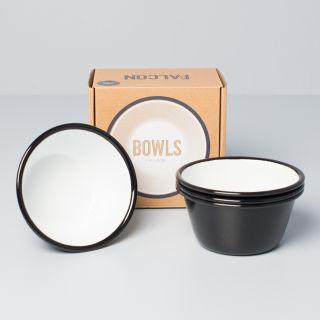 Falcon Enamelware 12cm Bowls Coal Black