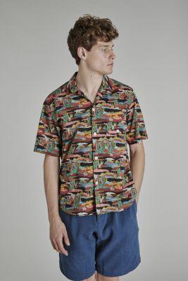 Delikatessen Camp Collar Shirt Nirvana Liberty Cotton Multicolor