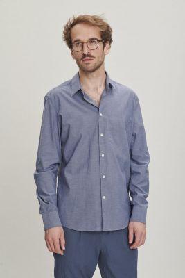 Delikatessen Feel Good Egyptian Cotton Shirt Blue