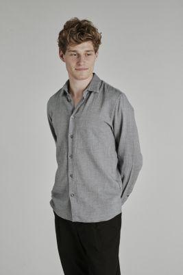 Delikatessen Feel Good Shirt Japanese Organic Cotton Grey