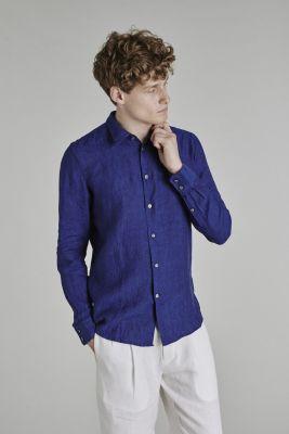 Delikatessen Feel Good Shirt Bohemian Linen Cobalt Blue