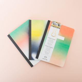 Papier Tigre Carnets de Poche -HELIOS - 3 Pocket Notebooks with Clip