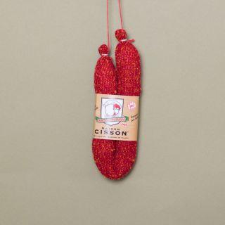 """Maison Cisson - 100% Knitted """"Le Chorizo Épicé du Pays Basque"""" Sausage"""