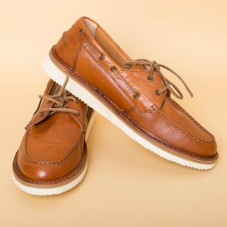 Astorflex Boatflex Leather Bruciato Shoes Mens