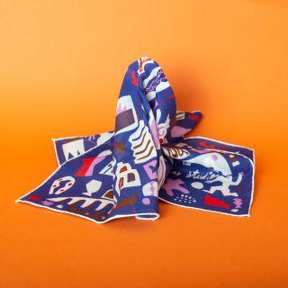 LAR Cotton Bandana Dinamo Bleu 55 x 55 cm