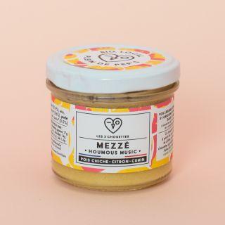 Les 3 Chouettes Mezzé Houmous Music, Chickpea - Sesame - Lemon - Cumin 100g