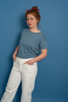 Ceselie Basic T-Shirt Agean Blue