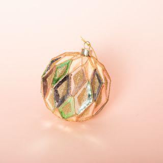 Vondels Honey Cubes Glass Ornament