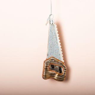 Vondels Silver Tool Glass Ornament