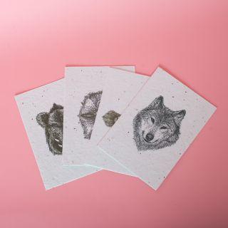 Gorilla Gardening - Seedpaper Waldtiere