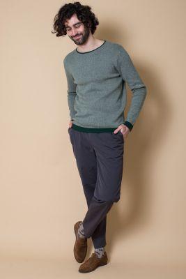 Kitchener Items Franz Spezial Struk Pullover Green & Grey Ecru