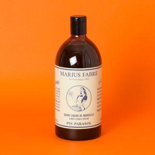 Marius Fabre Olive Oil Marseille Liquid Soap Parasol Pine Essential Oils 1L