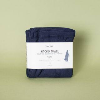 The Organic Company Kitchen Towel Dark Blue