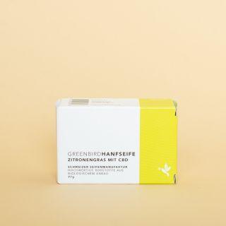 Greenbird CBD Bio Hanfseife Zitronengras