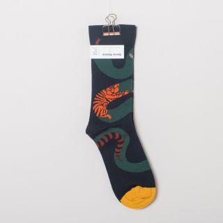 Bonne Maison Socks Dark Snake