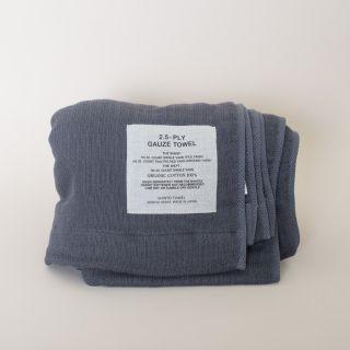 Shinto Bath Towel (L) 2.5-Ply Gauze Towel, Charcoal