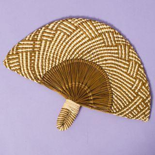 Guanabana Handwoven Fan Khaki