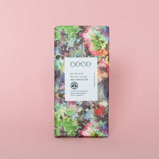 COCO -Timourous Beaties - Sea Salt & Lime Milk Chocolate 40%