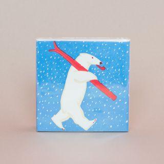 Archivist Gallery Luxury Matches Skiing Polar Bear