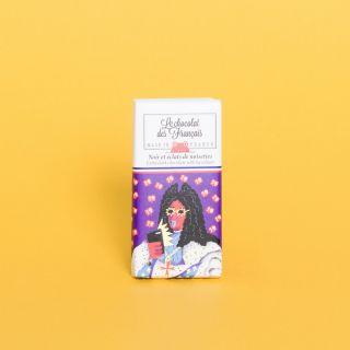 Le Chocolat des Francais Mini Bar Extra Dark 71% with Hazelnuts