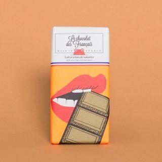 Le Chocolat des Francais Milk Chocolate with Hazelnuts