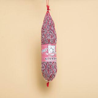"""Maison Cisson - 100% Knitted """"La Rosette de Lyon au filet rouge"""" Sausage"""