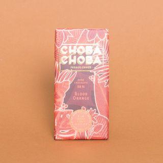 Choba Choba Blood Orange: Pure Dark Swiss Chocolate with 58% Cacao and Blood Orange