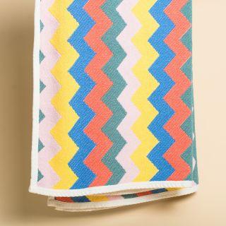 """ZigZag Zürich """"Three"""" ZZZ Cotton Beach Towel / Mini Blanket - by Michele Rondelli"""