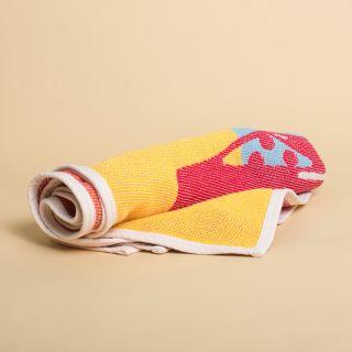 ZigZag Zürich Parasol Del Playa Cotton Beach Towel / Mini Blanket - by Michele Rondelli
