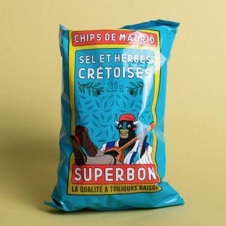 Superbon - Chips de Madrid - Sel Et Herbes Crétoises