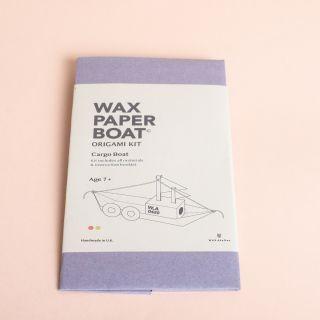 Wax Atelier Origami Kit - Wax Paper Cargo Boat